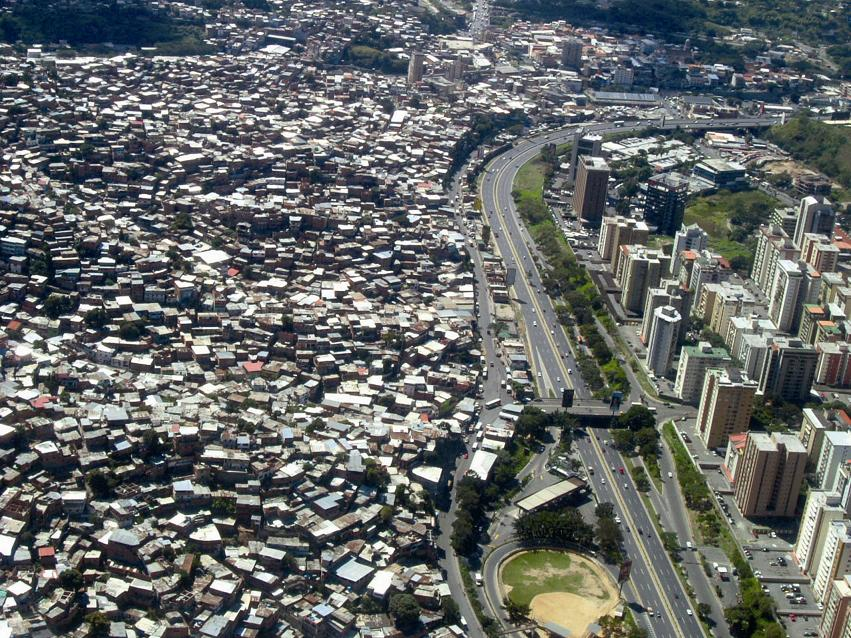 or barrios or favelas there (like the barrio of Petare, in Caracas,