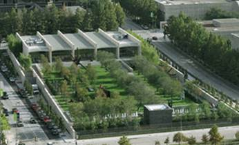 Aerial view of the Nasher Sculpture Center