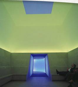 View of Skyspace with yellow interior